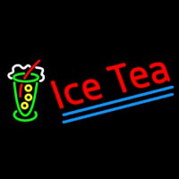 Ice Tea Logo Neon Sign