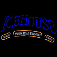 Icehouse Plank Road Brewery Blue Beer Sign Neon Sign
