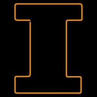 Illinois Fighting Illini Alternate Pres Logo NCAA Neon Sign Neon Sign