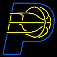 Indiana Pacers Alternate 2005 06 Pres Logo NBA Neon Sign Neon Sign