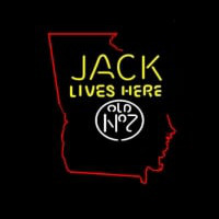 Jack Daniels Jack Lives Here Georgia Neon Sign