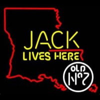 Jack Daniels Jack Lives Here Louisiana Whiskey Neon Sign