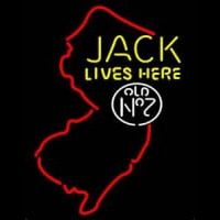 Jack Daniels Jack Lives Here New Jersey Whiskey Neon Sign
