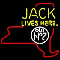 Jack Daniels Jack Lives Here New York Whiskey Neon Sign