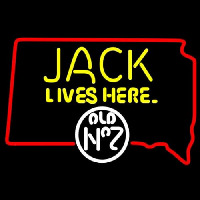 Jack Daniels Jack Lives Here South Dakota Whiskey Neon Sign