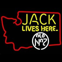 Jack Daniels Jack Lives Here Washington Whiskey Neon Sign