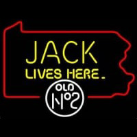 Jack Daniels Jack Lives here Pennsylvania Whiskey Neon Sign