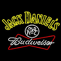 Jack Daniels with Budweiser Logo Neon Sign