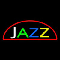 Jazz Red Border Neon Sign