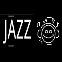 Jazz With Smiley Neon Sign