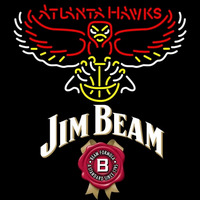 Jim Beam Atlanta Hawks NBA Neon Beer Sign Neon Sign