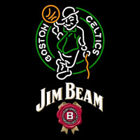 Jim Beam Boston Celtics NBA Beer Sign Neon Sign