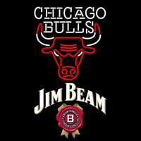 Jim Beam Chicago Bulls NBA Beer Sign Neon Sign