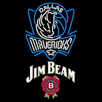 Jim Beam Dallas Mavericks NBA Beer Sign Neon Sign