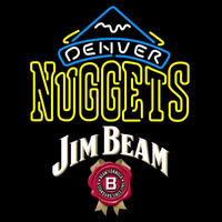 Jim Beam Denver Nuggets NBA Beer Sign Neon Sign