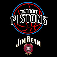 Jim Beam Detroit Pistons NBA Beer Sign Neon Sign
