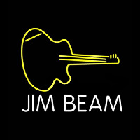 Jim Beam Guitar Neon Sign