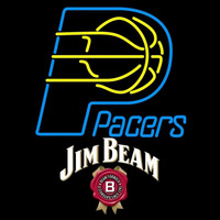 Jim Beam Indiana Pacers NBA Beer Sign Neon Sign