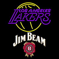 Jim Beam Los Angeles Lakers NBA Beer Sign Neon Sign