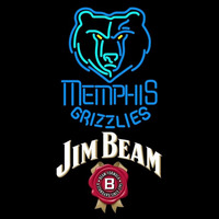 Jim Beam Memphis Grizzlies NBA Beer Sign Neon Sign