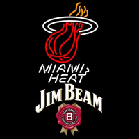 Jim Beam Miami Heat NBA Beer Sign Neon Sign