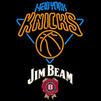 Jim Beam New York Knicks NBA Beer Sign Neon Sign