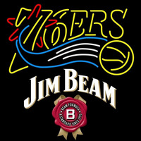 Jim Beam Philadelphia 76ers NBA Beer Sign Neon Sign