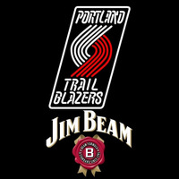 Jim Beam Portland Trail Blazers NBA Beer Sign Neon Sign
