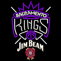 Jim Beam Sacramento Kings NBA Beer Sign Neon Sign
