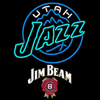 Jim Beam Utah Jazz NBA Beer Sign Neon Sign