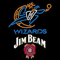 Jim Beam Washington Wizards NBA Beer Sign Neon Sign