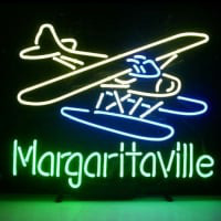 Jimmy Buffett Margaritaville Airplane Neon Sign