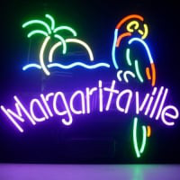 Jimmy Buffett Margaritaville Paradise Parrot Neon Sign