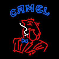 Joe Camel Red Logo Neon Sign