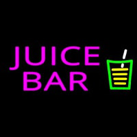 Juice Bar Pink Te t Glass Logo Neon Sign