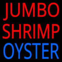 Jumbo Shrimp Oyster Neon Sign