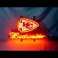 Kansas City Chiefs Football Budweiser Beer Neon Light Sign Neon Sign