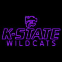 Kansas State Wildcats Wordmark Pres Logo NCAA Neon Sign Neon Sign