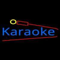 Karaoke And Microphone Neon Sign