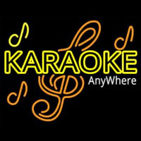 Karaoke Anywhere Neon Sign
