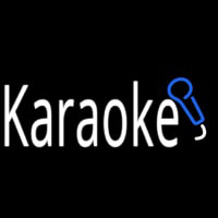 Karaoke With Mic Neon Sign