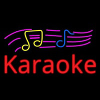 Karaoke With Musical Neon Sign