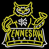 Kennesaw State Owls Mascot Pres Logo NCAA Neon Sign Neon Sign