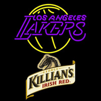 Killians Los Angeles Lakers NBA Beer Sign Neon Sign