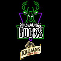 Killians Milwaukee Bucks NBA Beer Sign Neon Sign