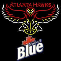 Labatt Blue Atlanta Hawks NBA Neon Beer Sign Neon Sign