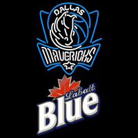 Labatt Blue Dallas Mavericks NBA Beer Sign Neon Sign