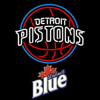 Labatt Blue Detroit Pistons NBA Beer Sign Neon Sign