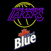 Labatt Blue Los Angeles Lakers NBA Beer Sign Neon Sign