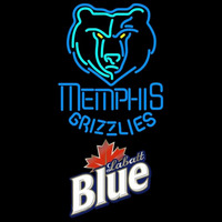 Labatt Blue Memphis Grizzlies NBA Beer Sign Neon Sign